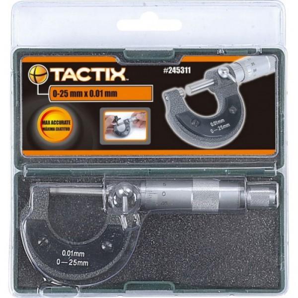 TACTIX - Μικρόμετρο σε Πλαστική Θήκη